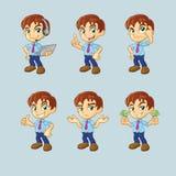 Homme d'affaires Cartoon Character Guy Collection Illustration de Vecteur