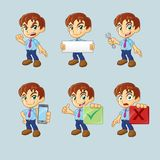 Homme d'affaires Cartoon Character Guy Collection Illustration Stock