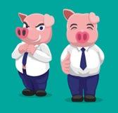 Homme d'affaires Cartoon Vector Illustration de porc Photographie stock libre de droits