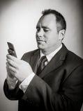 Homme d'affaires caucasien 40 années d'isolement sur a Image stock