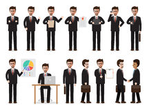 Homme d'affaires Characters illustration stock