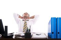 Homme d'affaires chargé et frustrant images stock
