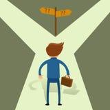 Homme d'affaires Choosing Unknown Path illustration libre de droits
