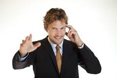 Homme d'affaires clairvoyant Photos stock