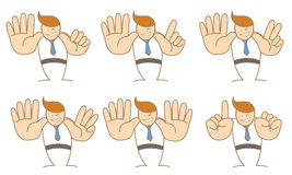 Homme d'affaires comptant le numéro six dix illustration libre de droits