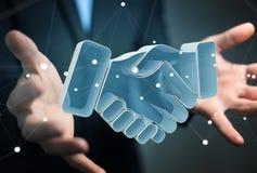 Homme d'affaires concluant un rendu de l'association 3D Images libres de droits