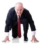 Homme d'affaires concurrentiel photo libre de droits