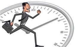 Homme d'affaires contre le temps illustration de vecteur