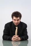 Homme d'affaires cruel Photos stock