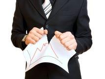 Homme d'affaires déchirant le papier Images stock