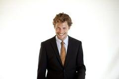 Homme d'affaires décontracté lauighing Photos stock