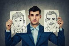 Homme d'affaires déprimé image libre de droits