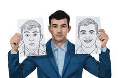 Homme d'affaires déprimé illustration libre de droits