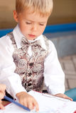 Homme d'affaires d'enfant Photographie stock libre de droits