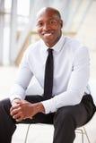 Homme d'affaires d'entreprise d'afro-américain, portrait vertical images libres de droits