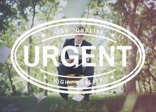 Homme d'affaires d'entreprise Urgent Graphic Concept photographie stock libre de droits