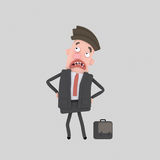 Homme d'affaires d'envie 3d illustration stock