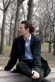 Homme d'affaires dans Central Park Photo stock