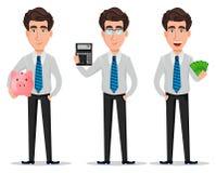 Homme d'affaires dans des vêtements de style de bureau illustration stock