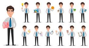 Homme d'affaires dans des vêtements de style de bureau illustration de vecteur
