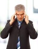Homme d'affaires dans la dépression Image stock