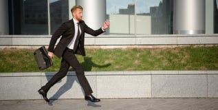 Homme d'affaires dans la hâte Photographie stock libre de droits