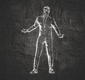 Homme d'affaires dans la pose de magicien illustration libre de droits
