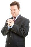 Homme d'affaires dans la prière images libres de droits