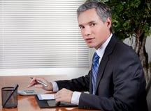 Homme d'affaires dans le bureau image libre de droits