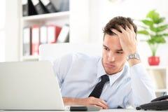 Homme d'affaires dans le bureau Photo stock