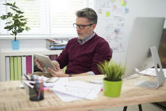 Homme d'affaires dans le bureau Images stock