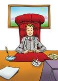Homme d'affaires dans le bureau illustration de vecteur