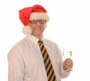 Homme d'affaires dans le chapeau de Santa images libres de droits