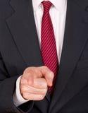 Homme d'affaires dans le costume dirigeant le doigt - patron, despote fâchés etc. image stock