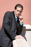 Homme d'affaires dans le procès Image libre de droits