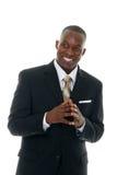 Homme d'affaires dans le procès noir 4 Images stock