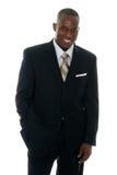 Homme d'affaires dans le procès noir 3 Image libre de droits