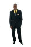 Homme d'affaires dans le procès noir 5 Image libre de droits