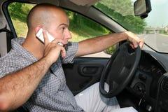 Homme d'affaires dans le véhicule Photographie stock