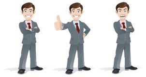 Homme d'affaires dans les poses illustration stock