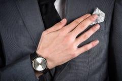 Homme d'affaires dans un costume Image stock