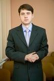 Homme d'affaires dans un procès photographie stock libre de droits