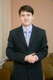 Homme d'affaires dans un procès Photos stock