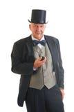 Homme d'affaires dans un rétro costume Images libres de droits