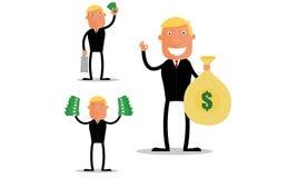 Homme d'affaires de bénéfice Image stock