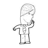 homme d'affaires de bande dessinée avec le cerveau énorme illustration de vecteur