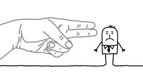 Homme d'affaires de bande dessinée - signe d'arme à feu illustration libre de droits