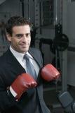 Homme d'affaires de boxe photographie stock libre de droits