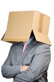 Homme d'affaires de carton Photos stock