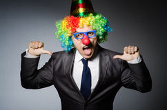 Homme d'affaires de clown Photo libre de droits